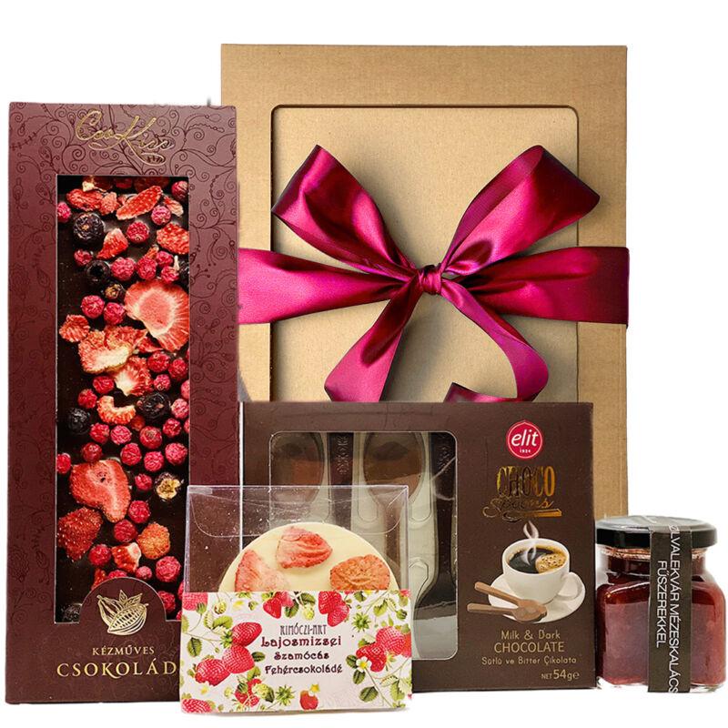 Csokoládé válogatás ajándék nőnapra