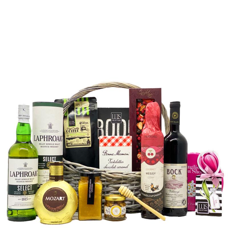 gourmet-ajandekkosar-skót-whiskyvel-premium-termekekbol